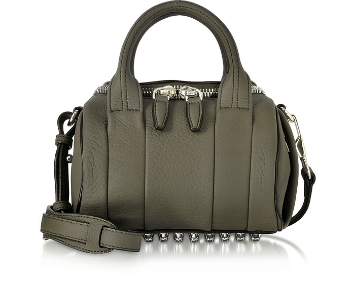 Mini Rockie Grass Matte Soft Pebbled Leather Satchel - Alexander Wang