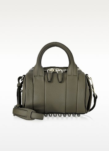 Mini Rockie Grass Matte Soft Pebbled Leather Satchel - Alexander Wang