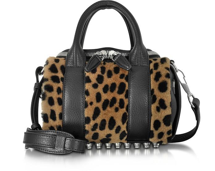 Mini Rockie Cheetah Printed Fur Satchel - Alexander Wang