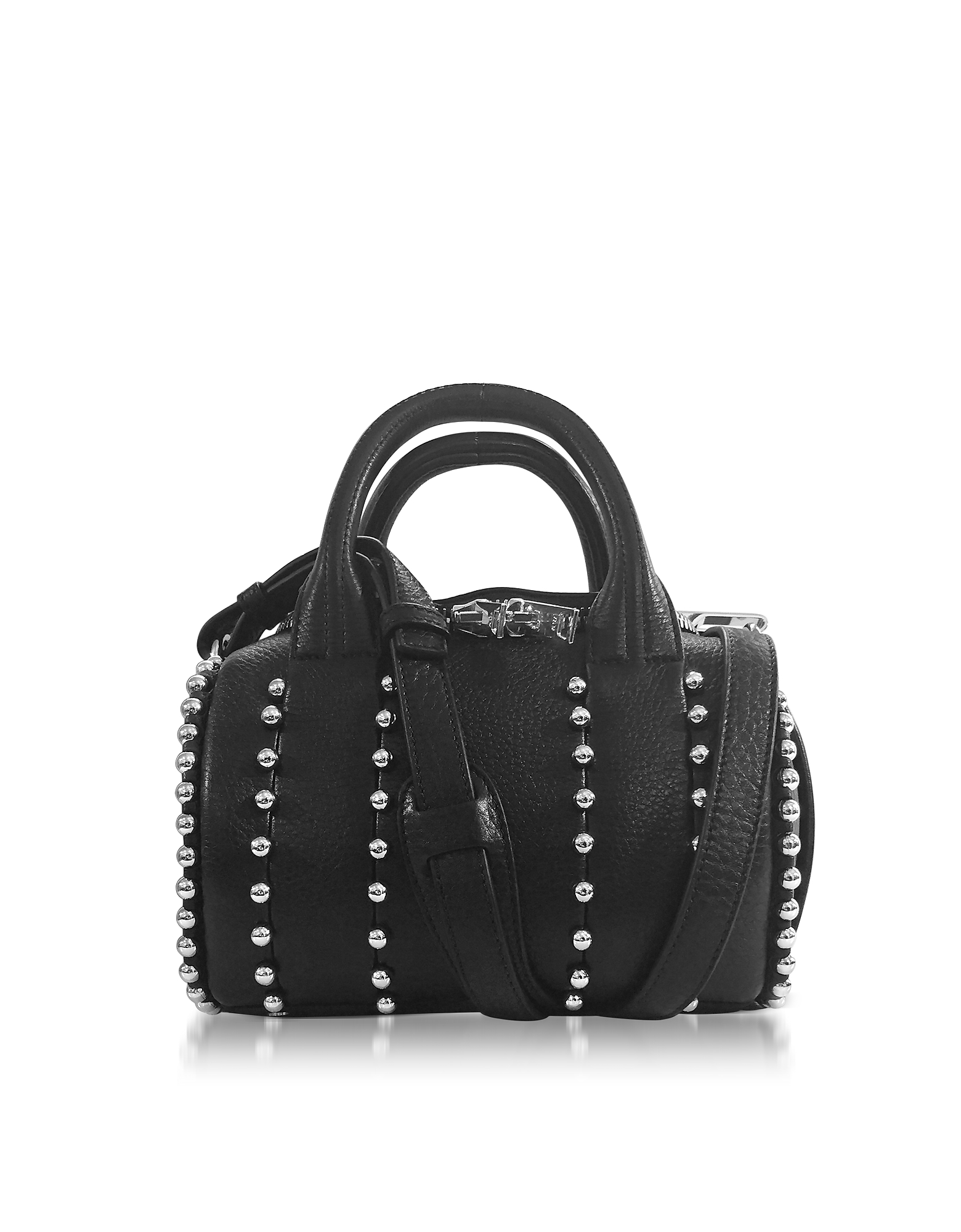 Alexander Wang Handbags, Mini Rockie Ball Studd Black Leather Satchel