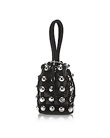Dome Stud Roxy Black Suede Mini Bucket Bag - Alexander Wang