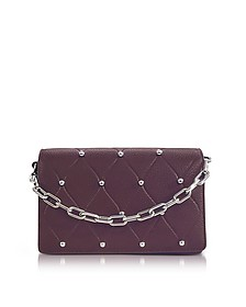 Attica Biker Beet Leather Purse w/Ball Studs - Alexander Wang