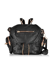 Mini Marti Black Washed Leather Backpack - Alexander Wang