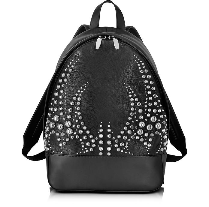 Runway Studded Black Leather Backpack W/Rhodium - Alexander Wang