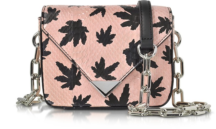 Mini Prisma Envelope Sling Cameo Pink Elaphe Crossbody Bag - Alexander Wang