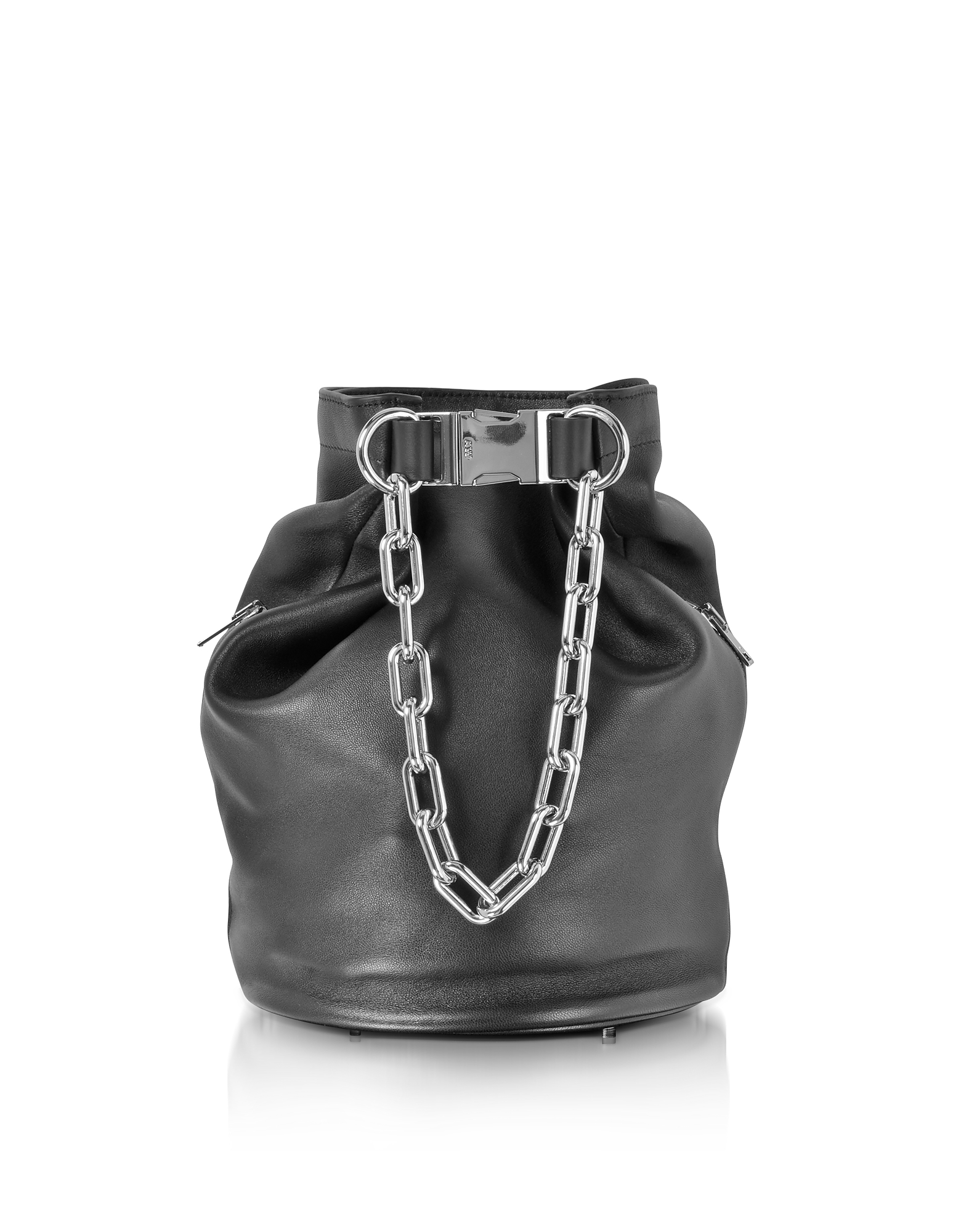 Alexander Wang Handbags, Black Nappa Leather Attica Soft Dry Sack