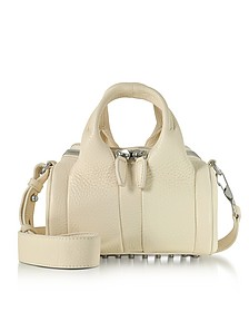 Cream Soft Pebble Leather Mini Rockie Satchel w/Wide Handles - Alexander Wang