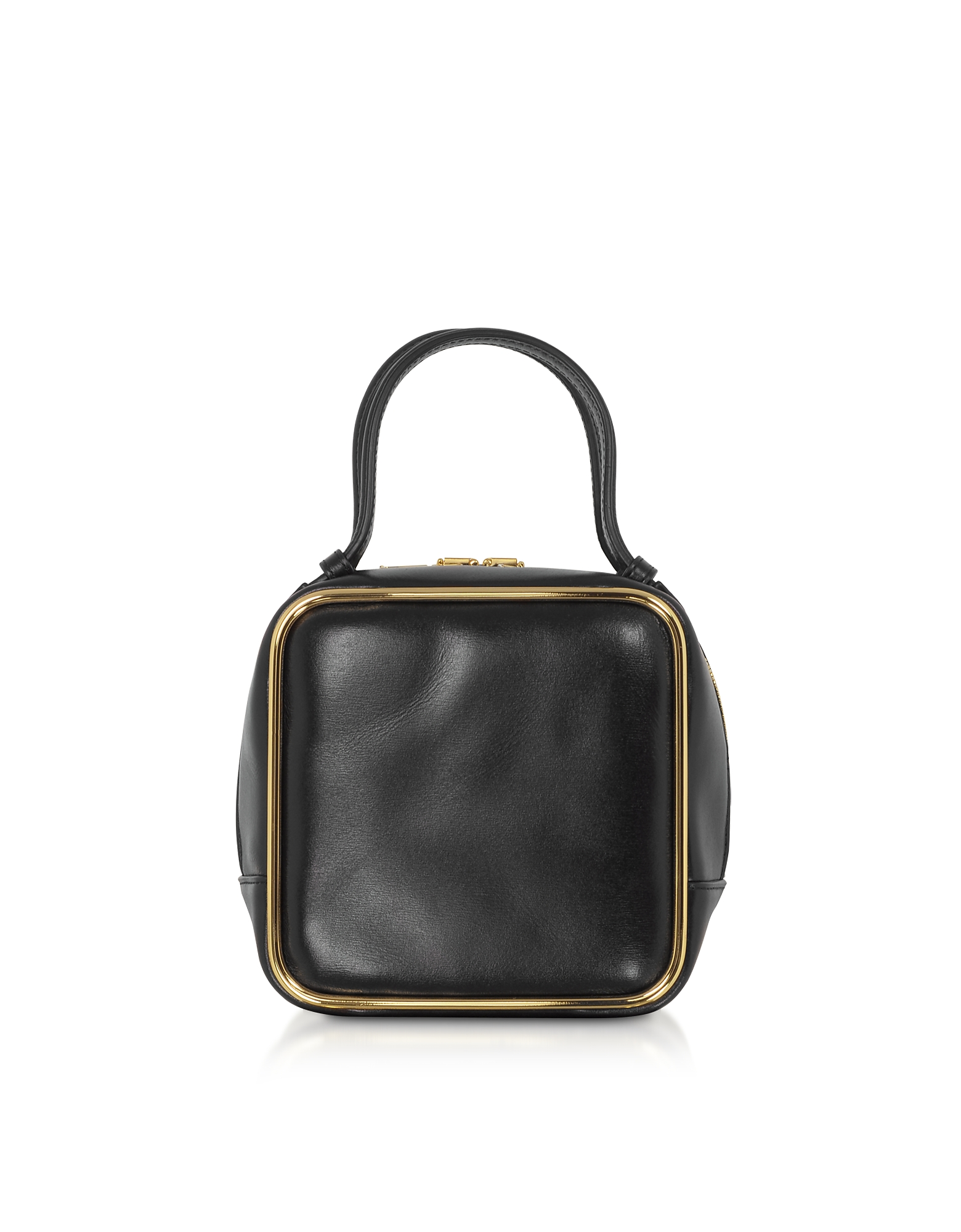 Alexander Wang Designer Handbags, Black Leather Halo Top Handle Satchel Bag