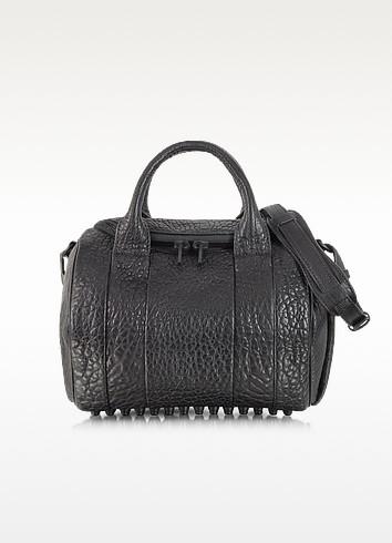 Rockie Black Pebbled Leather Satchel w/Matte Black Studs - Alexander Wang