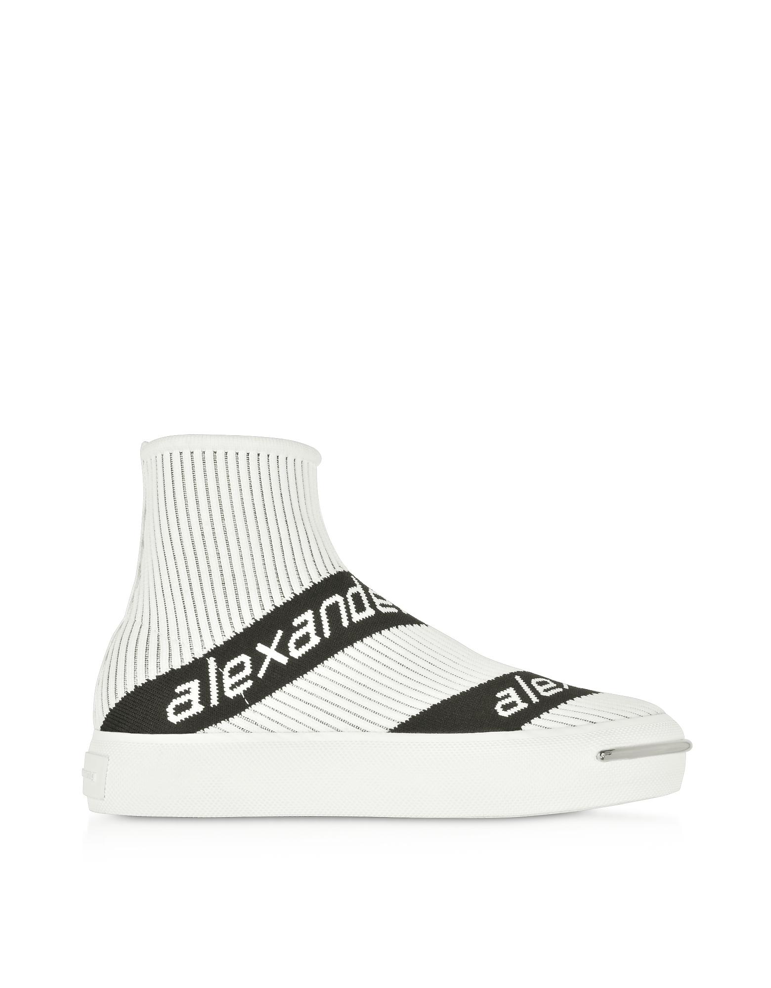 White Pia Knit Logo Socks Sneakers