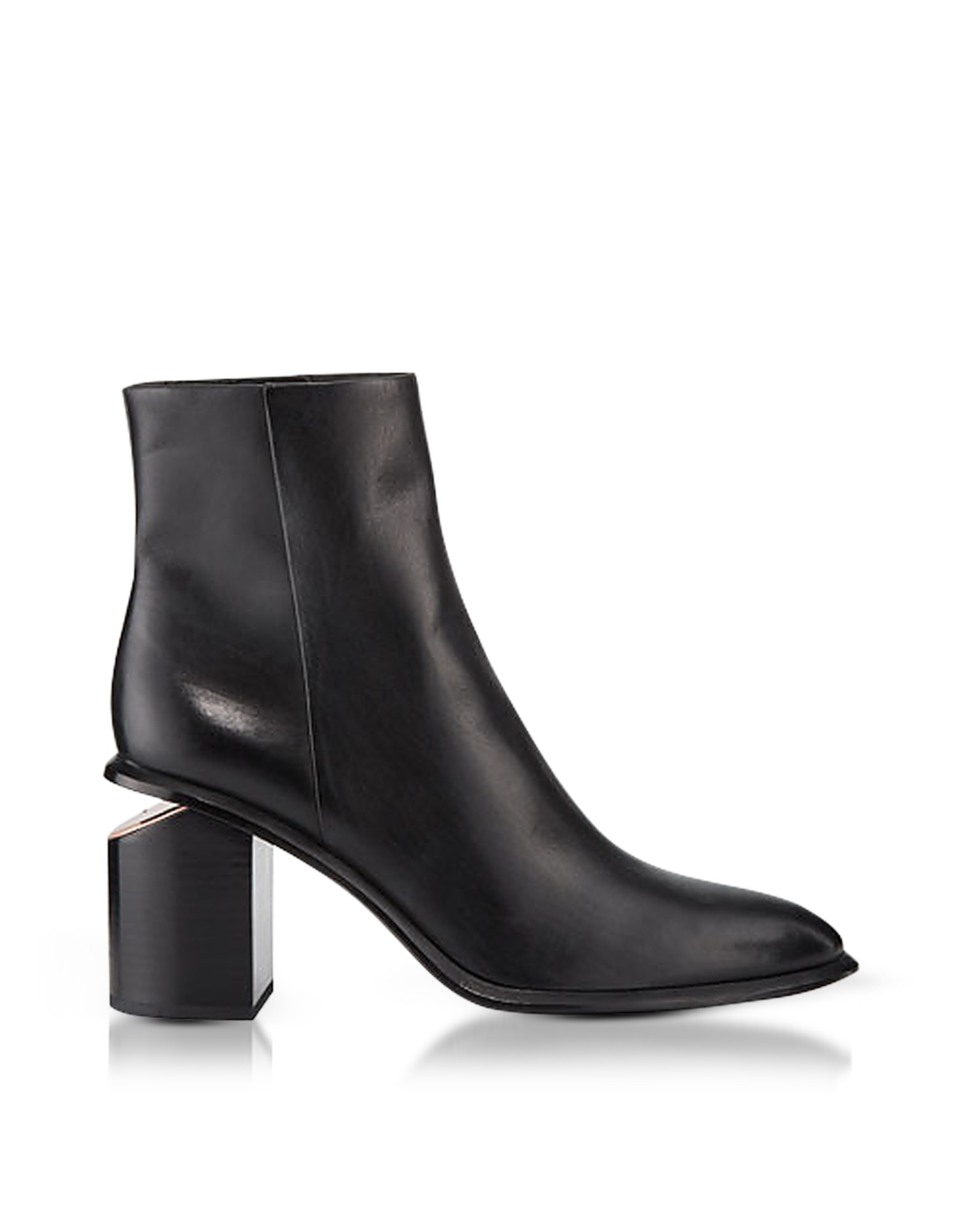 Image of Anna Black Calf Leather Boots