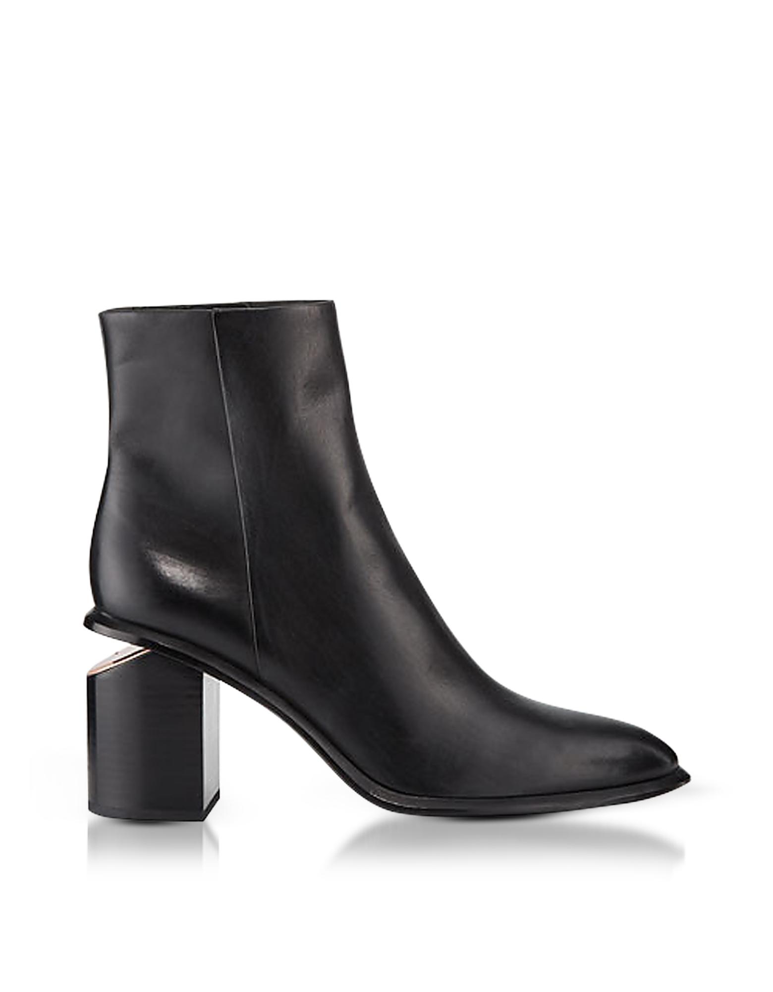 Anna Black Calf Leather Boots