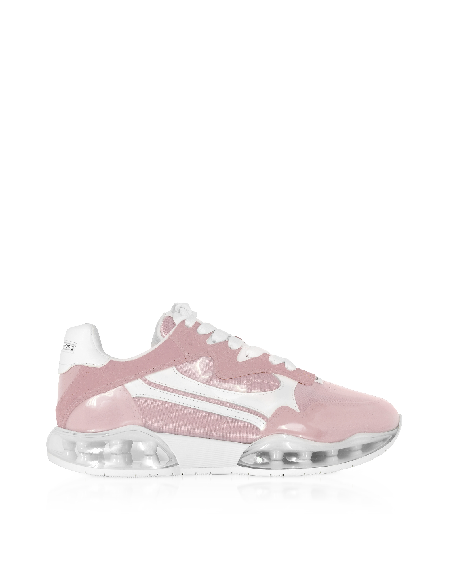 AWNYC Stadium Pink Coated Nylon and Suede Women's Sneakers