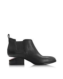 Kori Black Leather Bootie w/Rose-Goldtone Heel - Alexander Wang