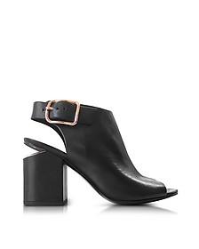 Nadia Black Leather Sandals w/Rose-Goldtone Heel - Alexander Wang