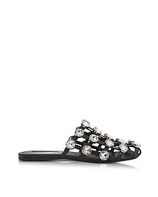 Jeweled Amelia Leather Flat Sandals - Alexander Wang
