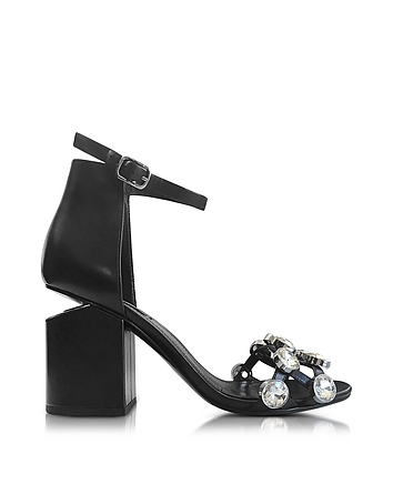 Alexander Wang - Jeweled Abby Leather Sandals