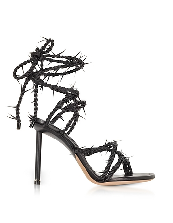 Black Lexie Barbed Wire High Heel Sandals