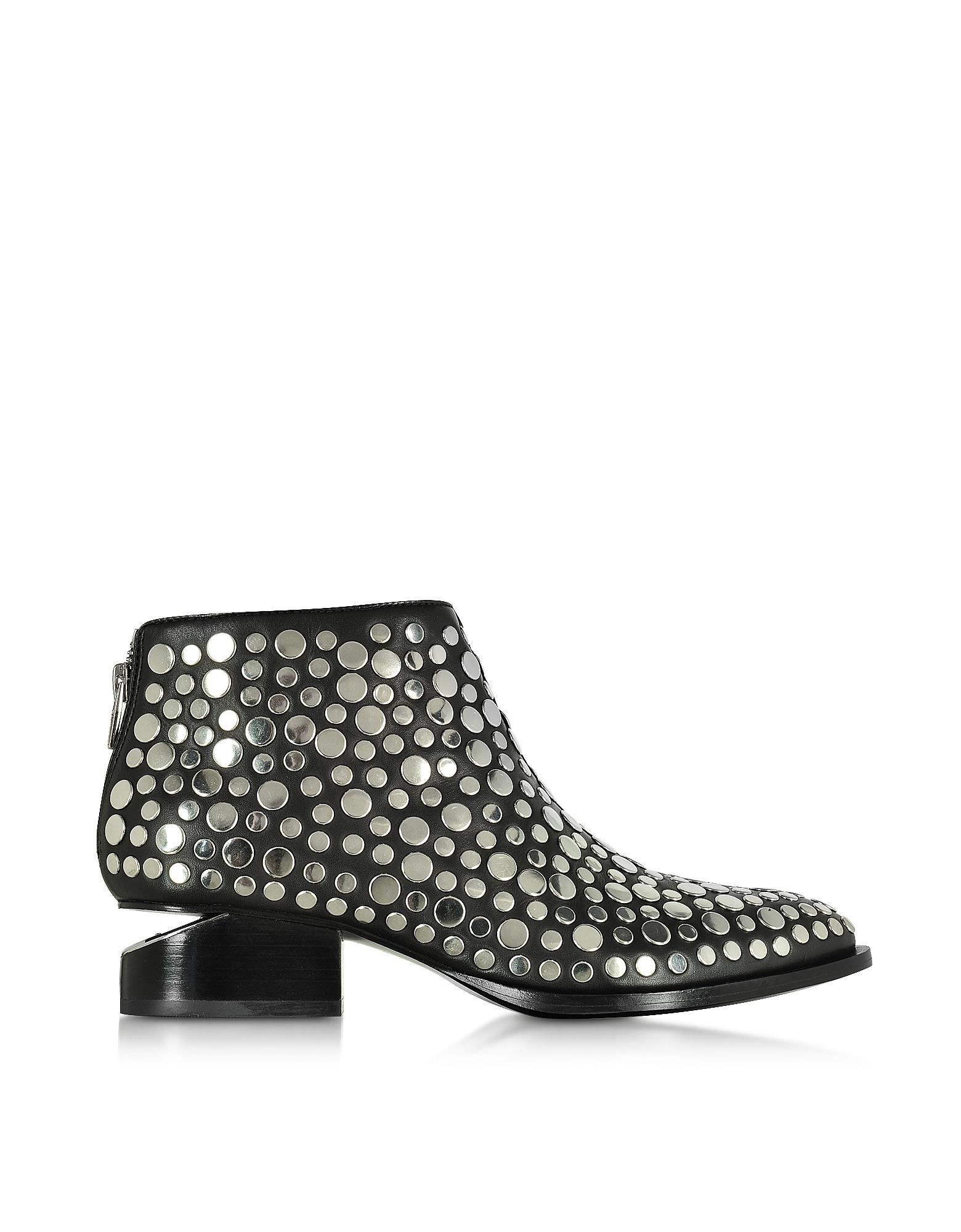 Фото Kori - Черные Кожаные Ботинки с Заклепками. Купить с доставкой