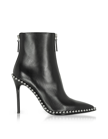 Eri Black Leather Boots