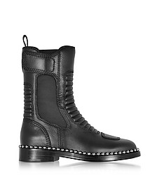 Mica Black Leather Boots - Alexander Wang