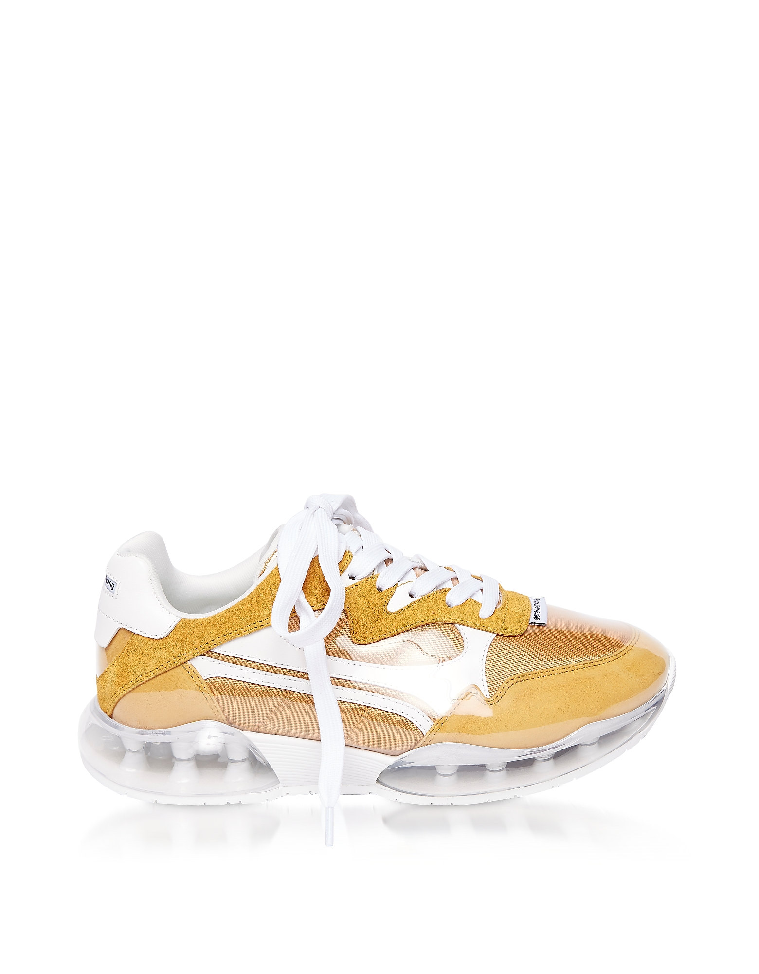 Mineral Yellow Suede&Mesh Stadium Sneakers