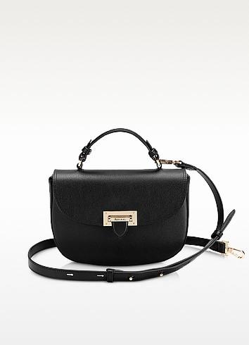 Black Letterbox Saddle Bag - Aspinal of London