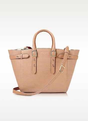 Merylebone Saffiano Leather Medium Tote Bag - Aspinal of London