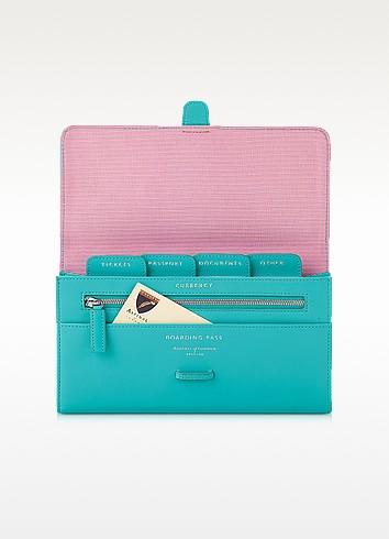 Aqua Classic Travel Wallet - Aspinal of London