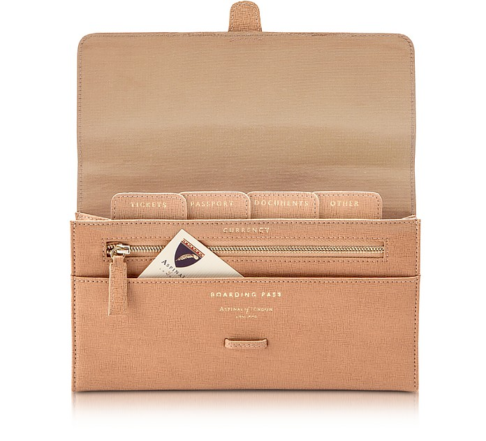 Deer Saffiano Classic Travel Wallet - Aspinal of London