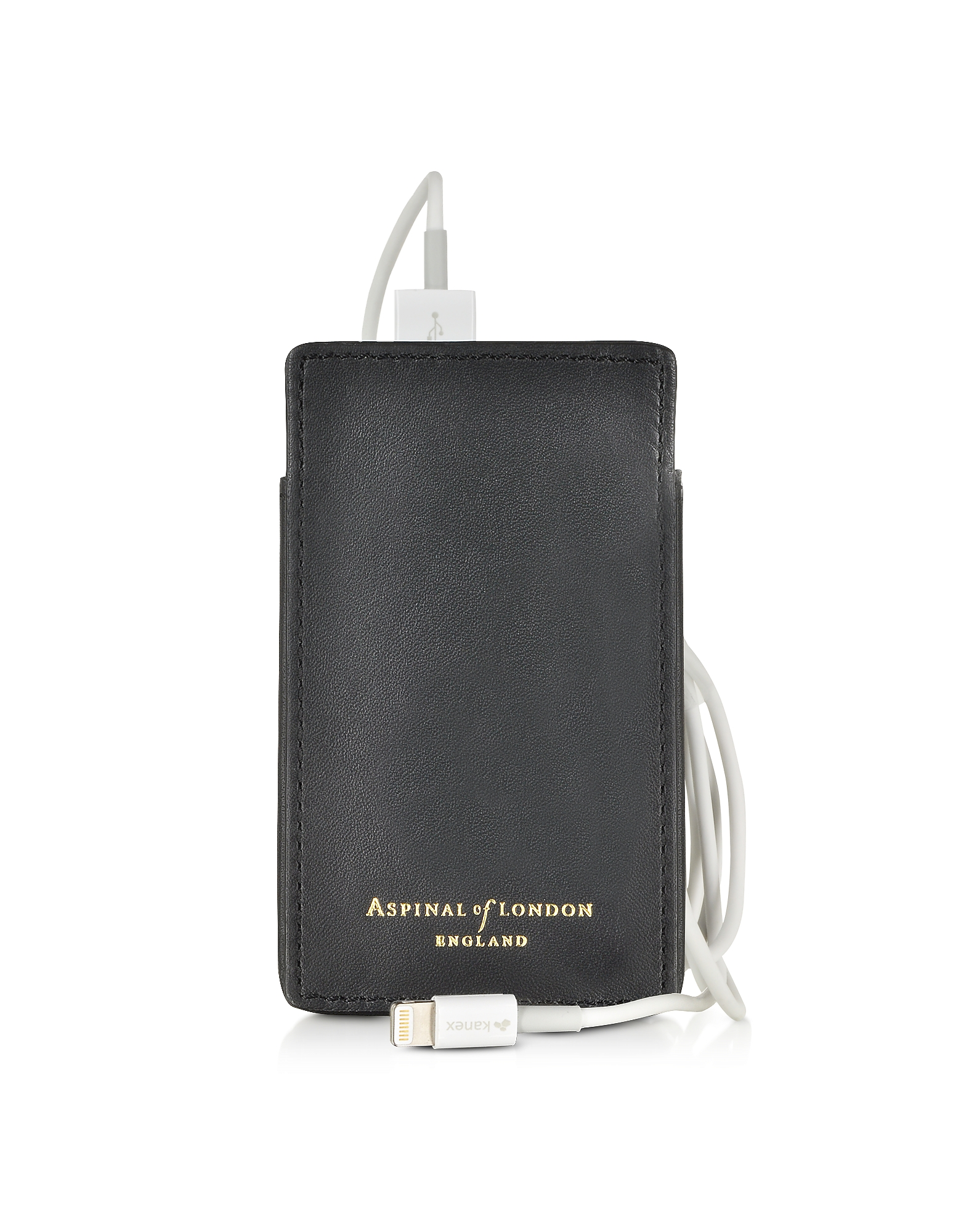 Tech Charger Pack with Leather Pouch от Forzieri.com INT