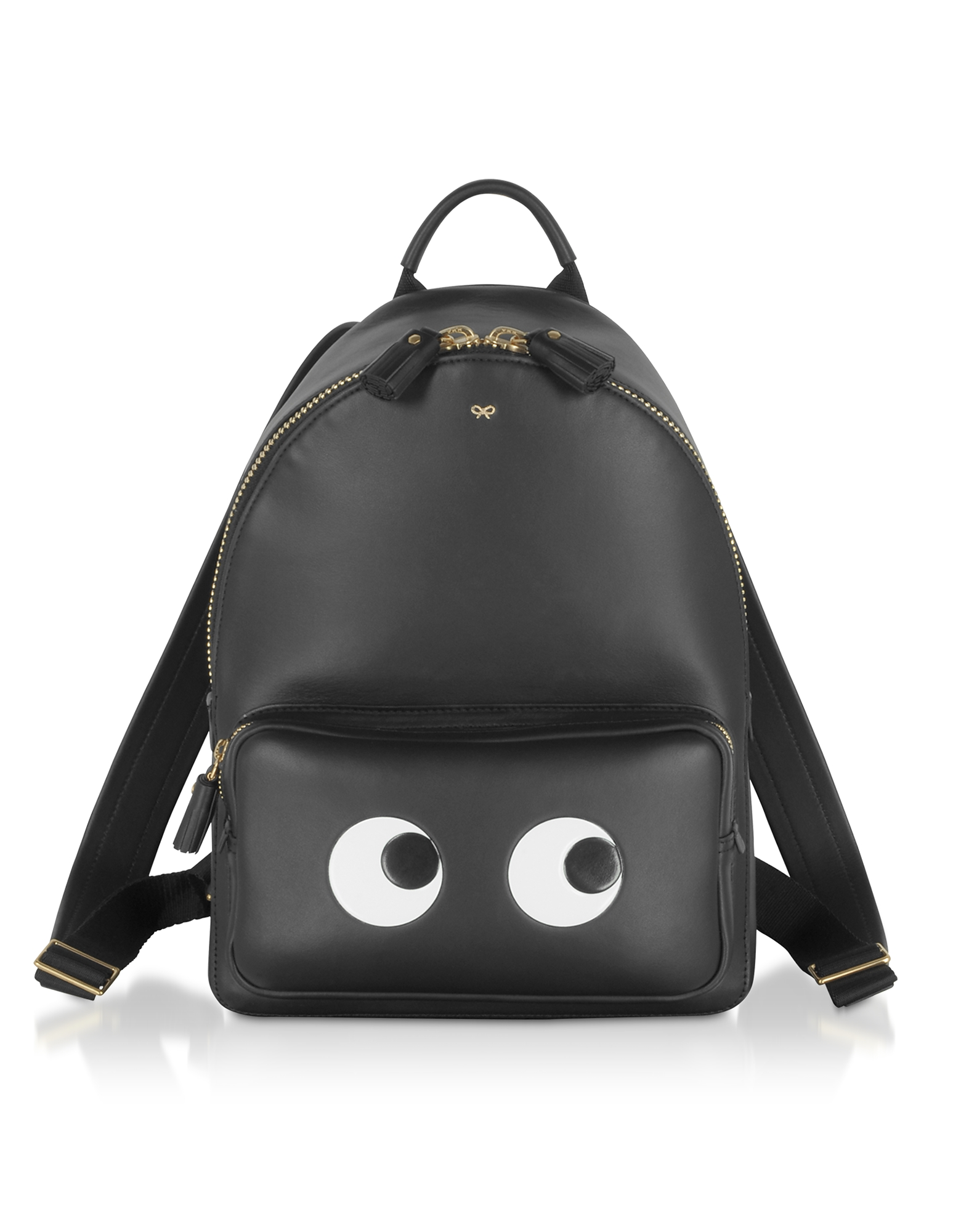 Anya Hindmarch Designer Handbags, Black Circus Mini Eyes Backpack
