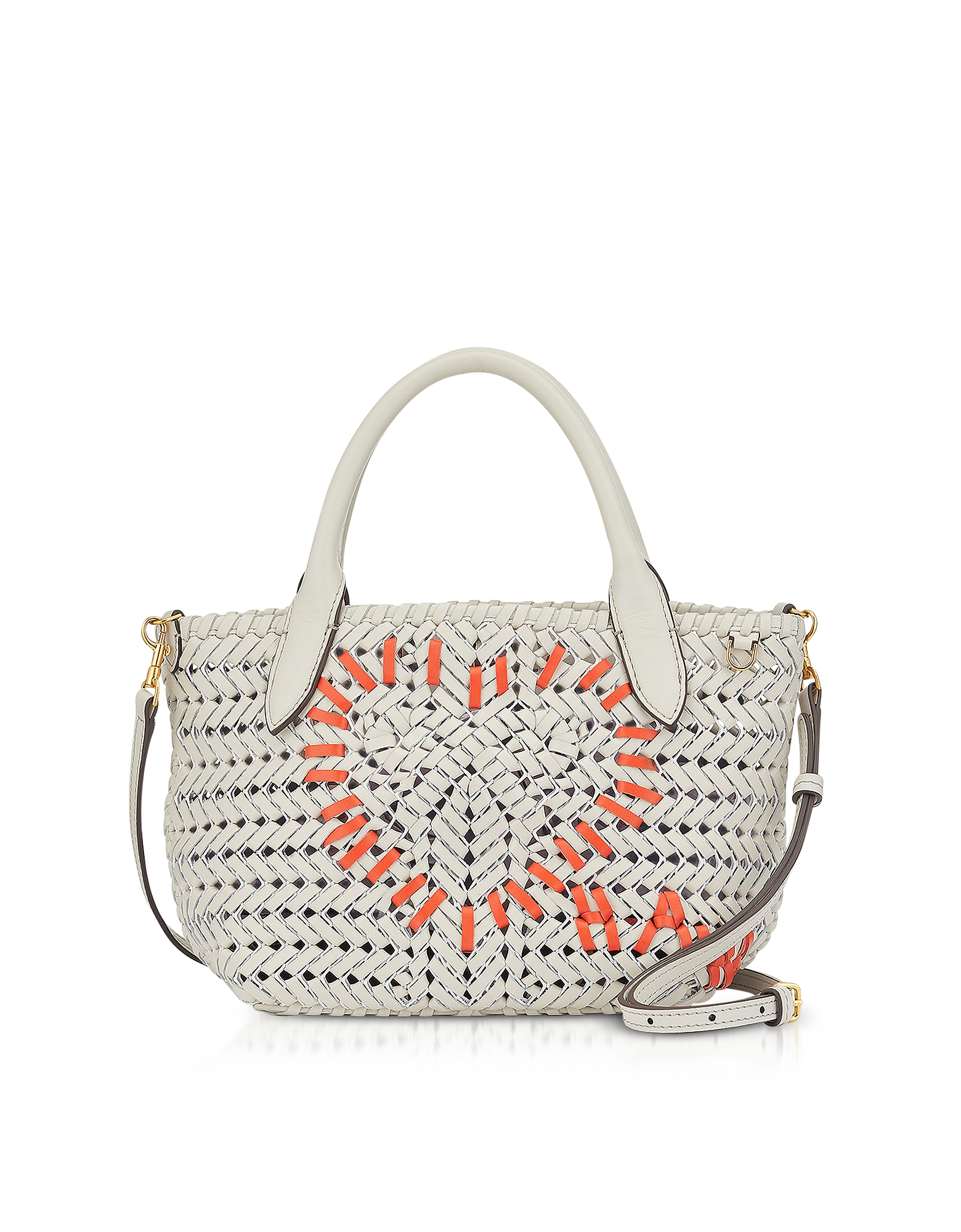 Chalk Calf Leather The Neeson Mini Heart Tote
