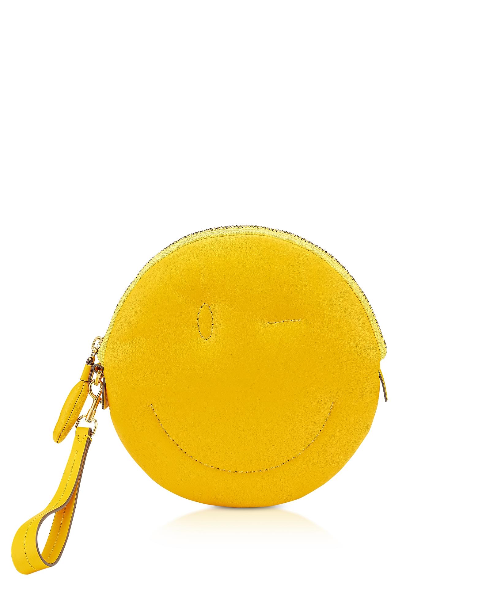 Anya Hindmarch Handbags, Soft Nappa Soleil Wink Chubby Clutch