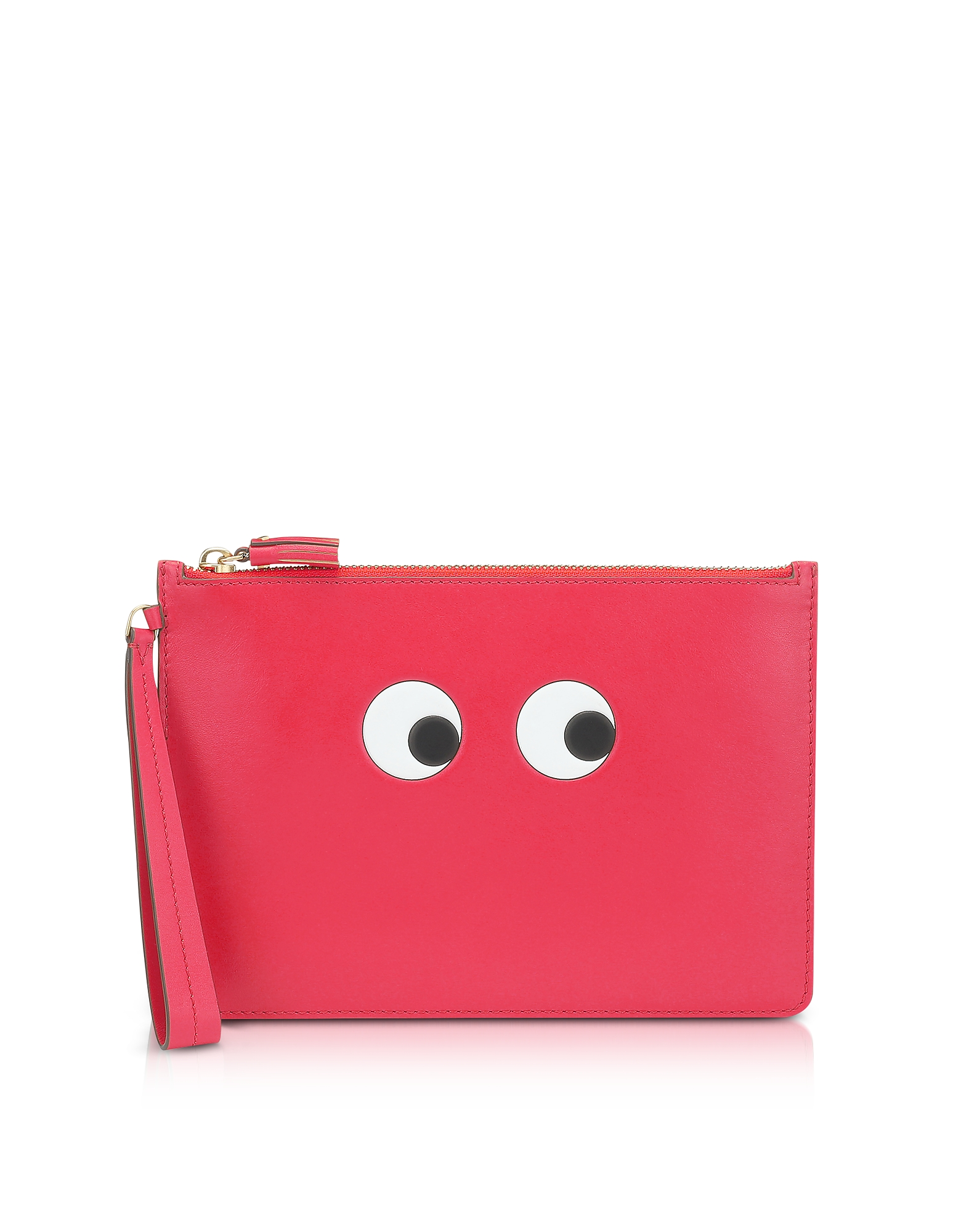 Anya Hindmarch Designer Handbags, Lollipop Circus Leather Eyes Zip-Top Pouch