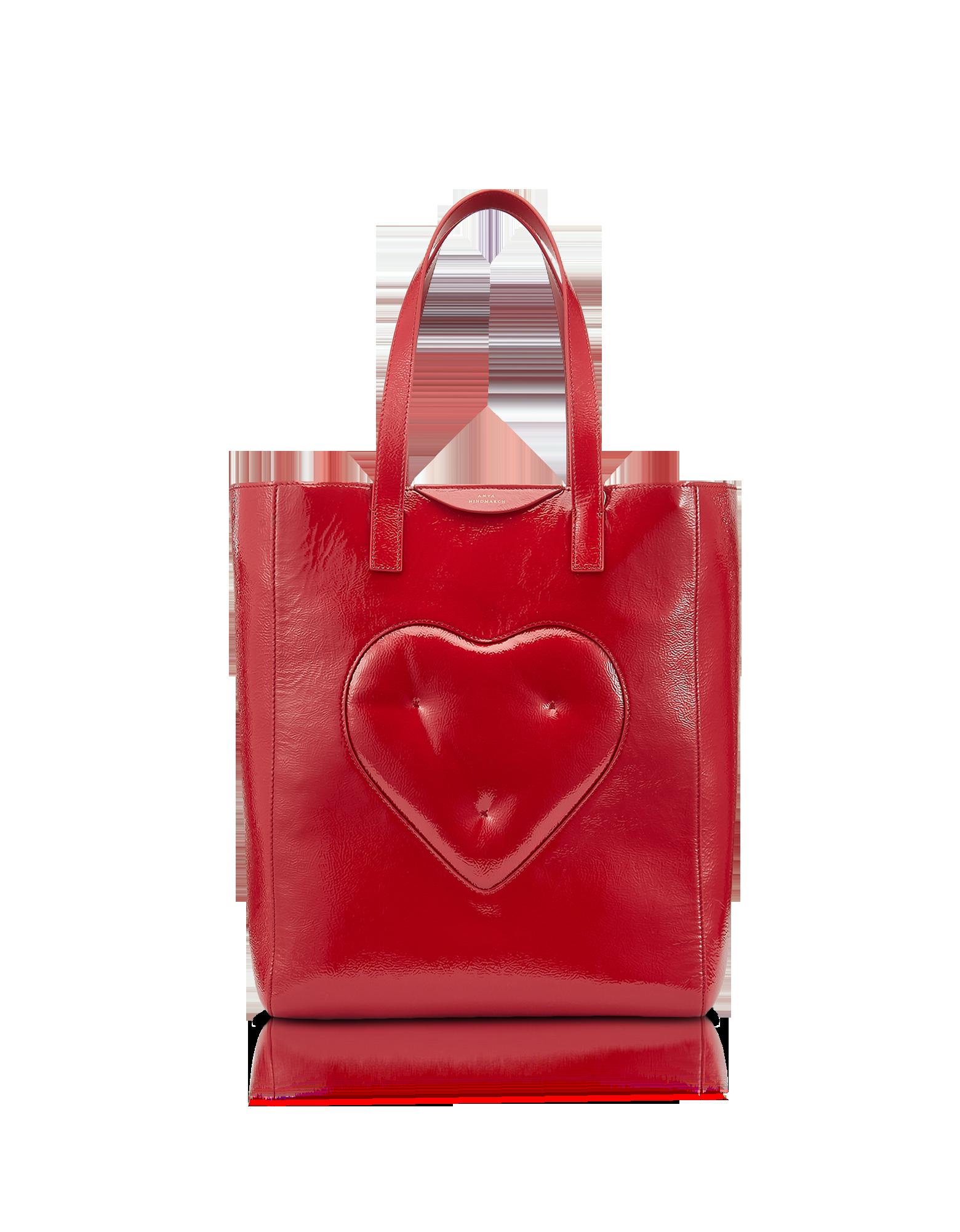 Image of Dark Red Naplak Chubby Heart Tote Bag