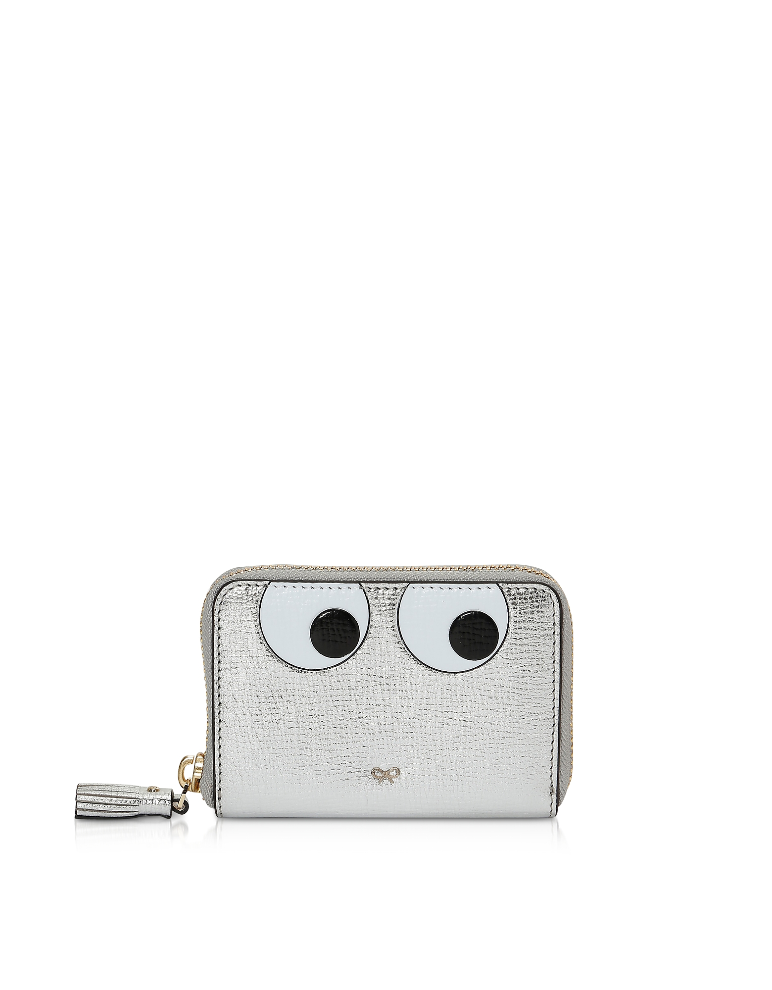 Silver Eyes Small Zip-Around Wallet