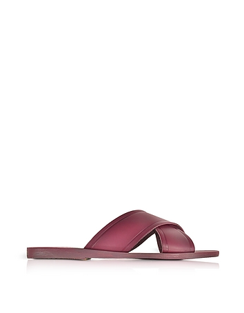 Ancient Greek Sandals - Thais Raspberry Leather Slide