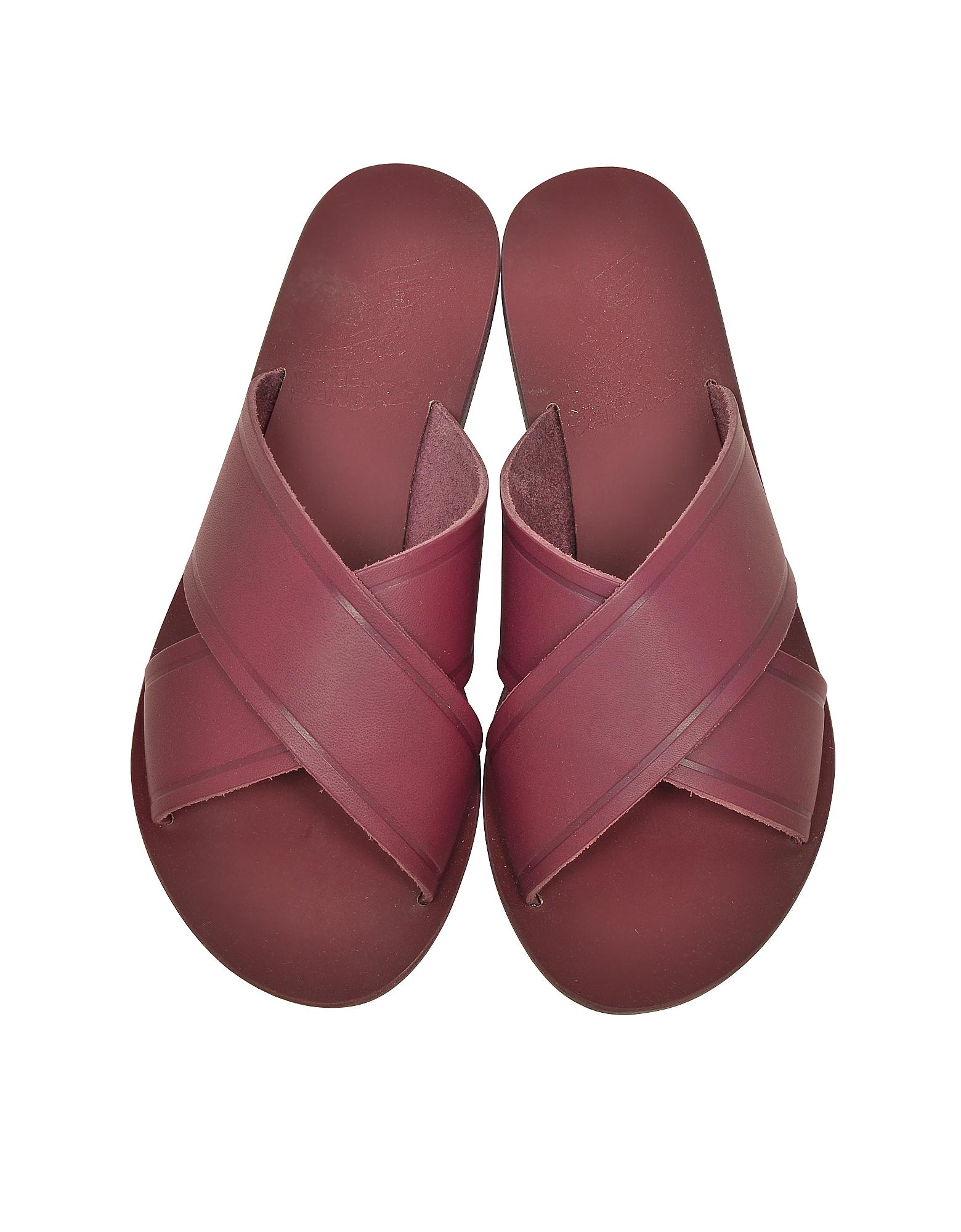 Thais Raspberry Leather Slide от Forzieri.com INT