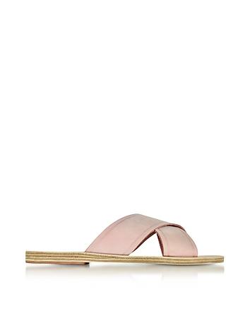 Ancient Greek Sandals - Thais Pink Nubuck Slide