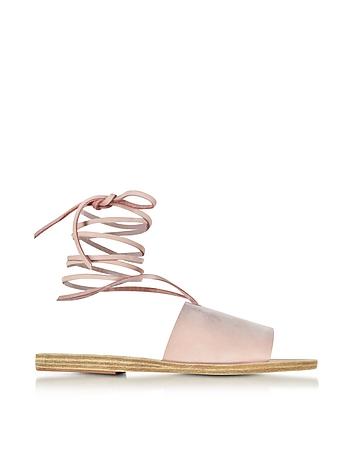 Ancient Greek Sandals - Christina Pink Nubuck Sandal