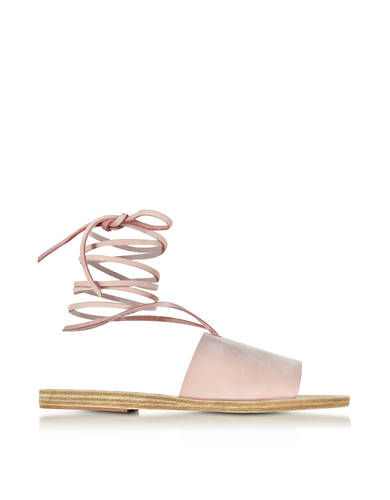 Ancient Greek Sandals Shoes, Christina Pink Nubuck Sandal
