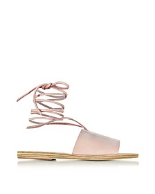 Christina Pink Nubuck Sandal - Ancient Greek Sandals