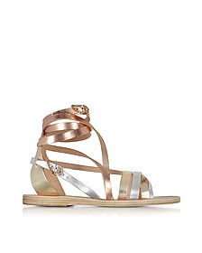 Satira Multicolor Metallic Leather Sandal - Ancient Greek Sandals