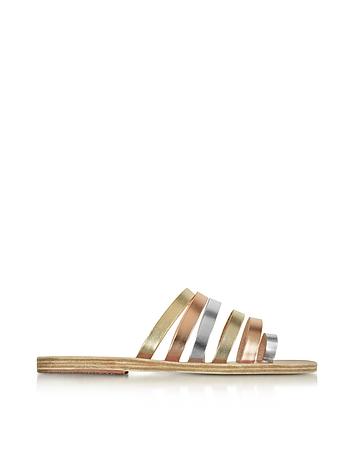 Niki Multicolor Metallic Leather Sandal