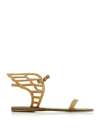 Ancient Greek Sandals - Ikaria Lace Natural Leather Flat Sandal