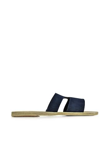 Ancient Greek Sandals Apteros - Sandales en Suède Bleu Nuit