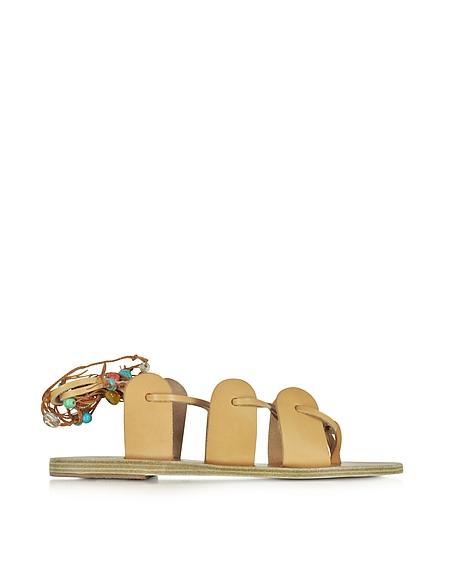 Foto Ancient Greek Sandals Amaryllis Stones Sandalo in Pelle Natural con Pietre Scarpe