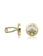 AZ Collection Four - Gemelli Placcati Oro con Quadrifoglio - az collection - it.forzieri.com