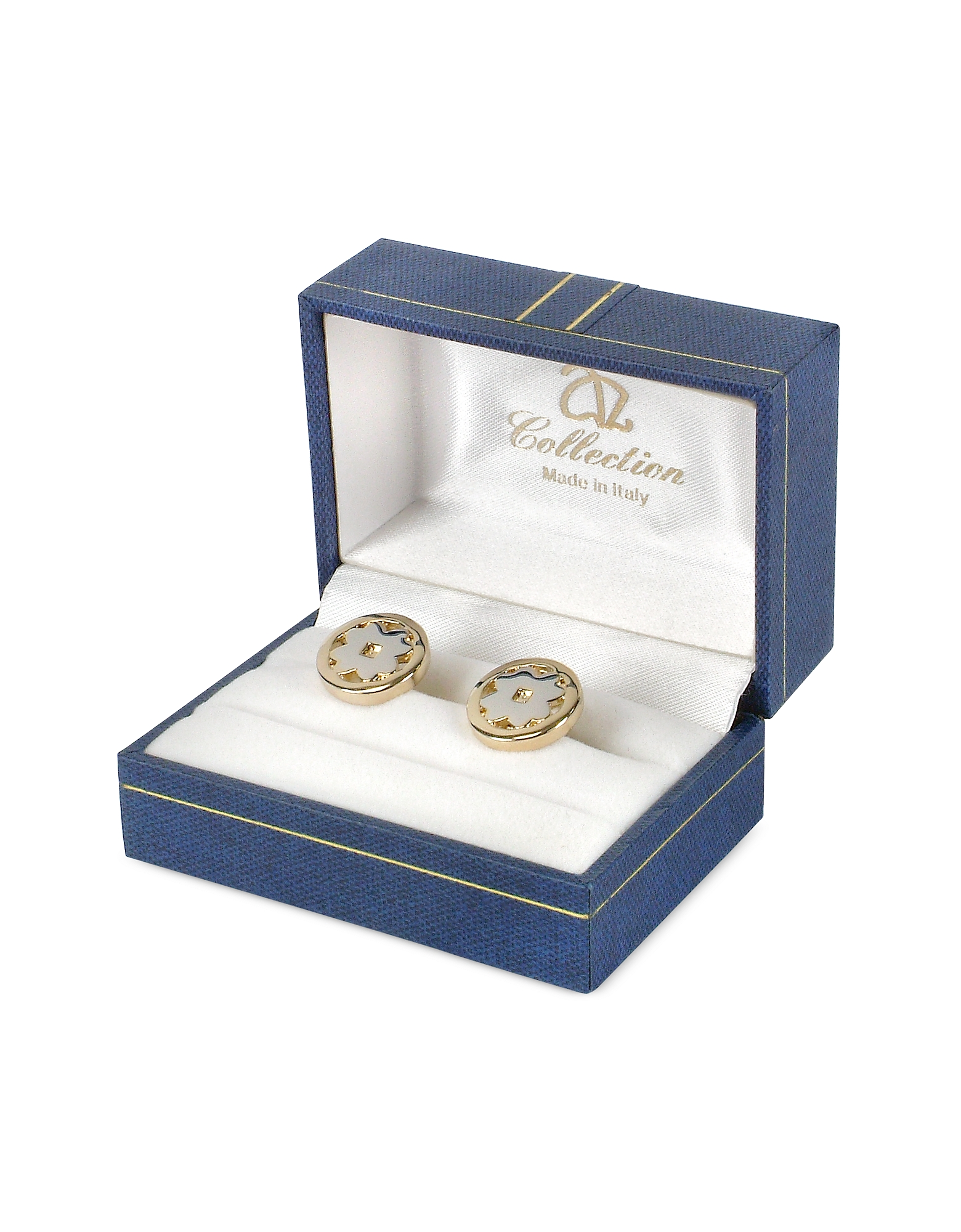 Four-Leaf Clover Gold Plated Cuff Links от Forzieri.com INT